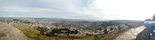 Het panorama van San Francisco van Tweelingpieken overziet Royalty-vrije Stock Foto