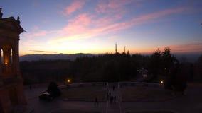 Het panorama van San Luca Sanctuary stock video
