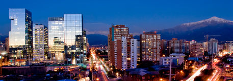 Het Panorama van Santiago Stock Foto