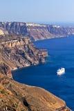 Het Panorama van Santorini stock foto
