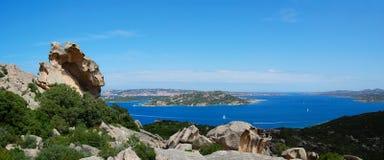 Het Panorama van Sardinige stock afbeeldingen