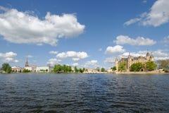 Het Panorama van Schwerin royalty-vrije stock foto's