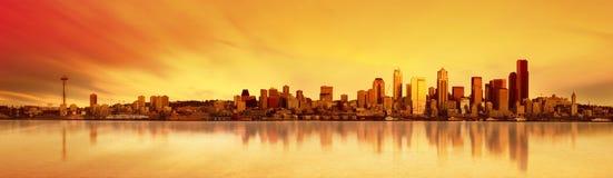 Het Panorama van Seattle stock foto