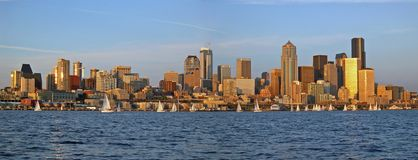 Het Panorama van Seattle Stock Foto