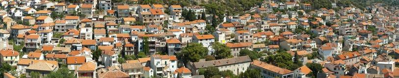 Het panorama van Sibenik Stock Fotografie