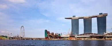 Het Panorama van Singapore Stock Foto's