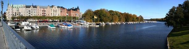 Het panorama van Stockholm Stock Foto