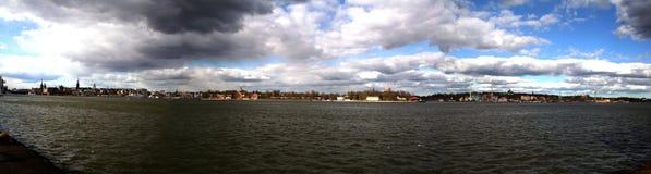 Het panorama van Stockholm van Södermalm Royalty-vrije Stock Foto