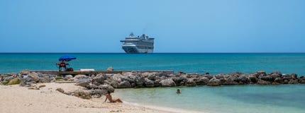 Het Panorama van het strandparadijs Stock Foto