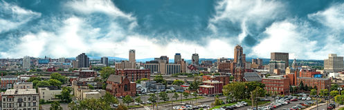 Het panorama van Syracuse, New York Stock Foto's