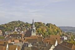 Het Panorama van Tübingen stock afbeeldingen