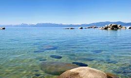 Het panorama van Tahoe van het meer, Californië. royalty-vrije stock afbeelding