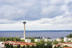 Het panorama van Tampere, Hame-Gebied, Finland stock fotografie