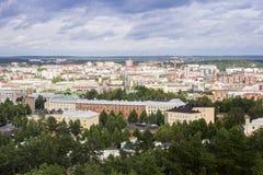 Het panorama van Tampere, Hame-Gebied, Finland royalty-vrije stock foto's