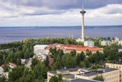 Het panorama van Tampere, Hame-Gebied, Finland royalty-vrije stock afbeeldingen