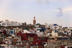 Het panorama van Tanger stock foto