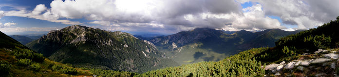 Het panorama van Tatrasornak Royalty-vrije Stock Fotografie