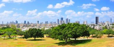 Het Panorama van Tel Aviv, Israël stock foto