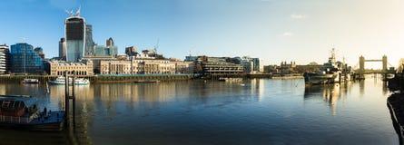Het Panorama van Theems Royalty-vrije Stock Afbeelding