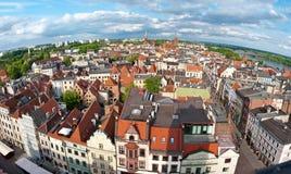 Het panorama van Torun, Polen Stock Foto