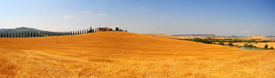 Het Panorama van Toscanië Stock Afbeelding