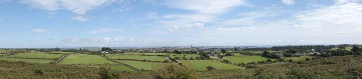 Het panorama van Tramore stock afbeeldingen