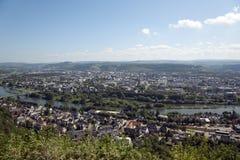 Het panorama van Trier Stock Foto's