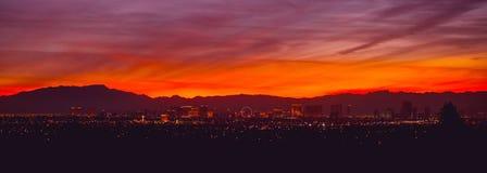 Het Panorama van Vegas van Las royalty-vrije stock afbeelding