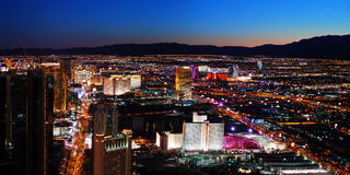 Het panorama van Vegas van Las stock foto