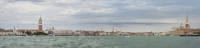 Het Panorama van VENETIË ITALIË Stock Afbeeldingen