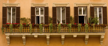 Het Panorama van vensters Stock Foto