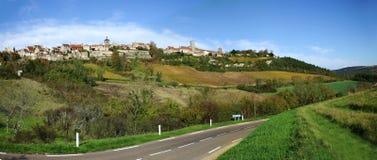 Het panorama van Vezelay Stock Foto's