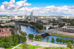 Het panorama van Vilnius Stock Foto's