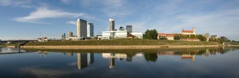 Het panorama van Vilnius stock afbeeldingen