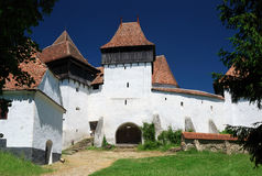 Het panorama van Viscri, Transsylvanië, Roemenië Royalty-vrije Stock Foto