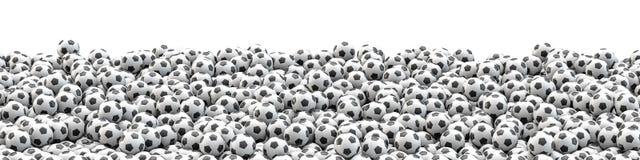 Het panorama van voetbalballen vector illustratie