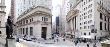 Het Panorama van Wall Street van de Stad van New York Royalty-vrije Stock Afbeelding