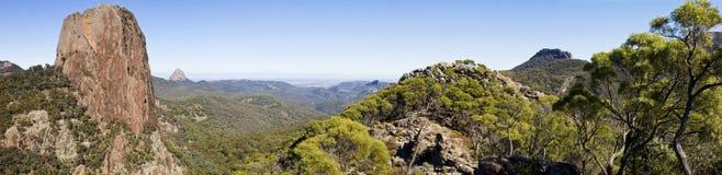 Het Panorama van Warrumbungles Royalty-vrije Stock Foto