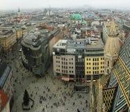 Het panorama van Wenen van cathedralldak Stock Foto's