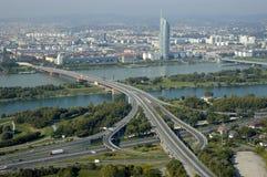 Het panorama van Wien Stock Foto's