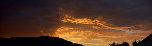 Het panorama van wolken Stock Foto
