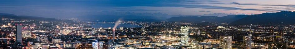 Het Panorama van Zürich stock foto's
