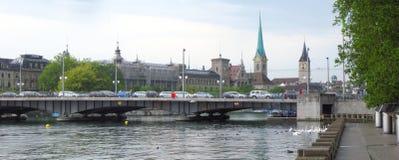 Het Panorama van Zürich royalty-vrije stock foto's
