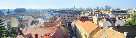 Het panorama van Zagreb royalty-vrije stock afbeeldingen