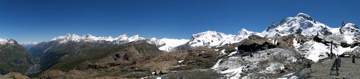Het panorama van Zermatt Stock Afbeelding