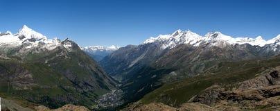 Het panorama van Zermatt Stock Foto's