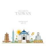Het panoramaachtergrond van Taiwan Stock Foto
