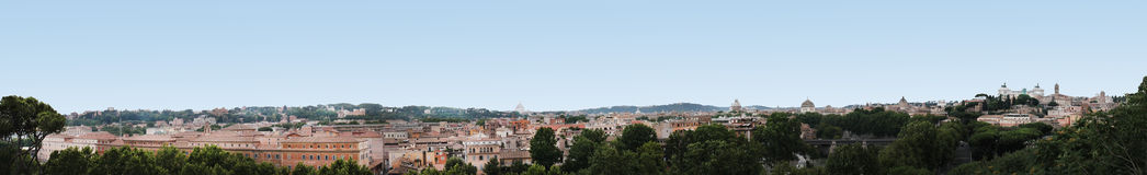 Het Panoramahorizon van Rome Stock Foto