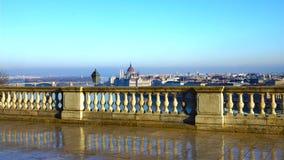 Het panoramamening van Boedapest van de Buda-heuvel Stock Afbeeldingen