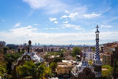 Het panoramamening van de parkgã el ¼ - Beeld royalty-vrije stock afbeeldingen
